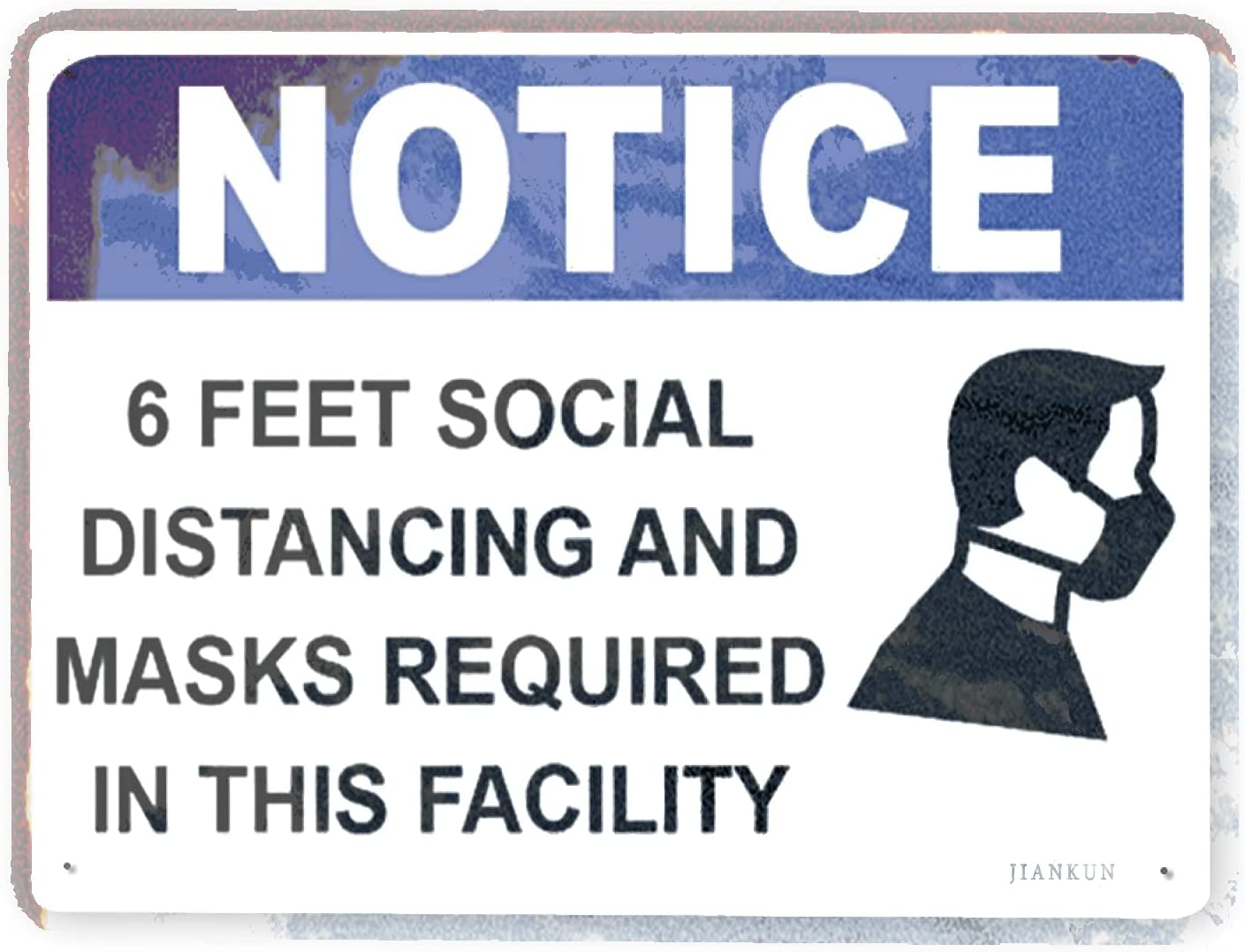 J.DXHYA Man Cave Decor Indefinitely 2 Pieces Warning Sign Rules Feet Max 66% OFF S 6