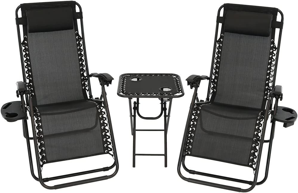 Sunnydaze Outdoor Zero Gravity 67% OFF of fixed price Reclining Lounge Chairs of Max 73% OFF 2 Set