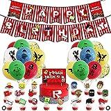 Roblox Decoración para Fiestas de Videojuegos Happy Birthday Gaming Banner Temática Roblox Dibujos Animados para Niños Adultos Fans