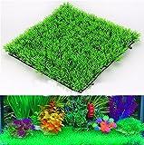 LIUZKH Eco-Friendly Acuario Ornamentos Agua Artificial Plástico Verde Hierba Planta Césped Acuático Acuario Acuario Acuario Acuario Acuario