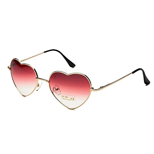 33187c75298 Dollger Heart Sunglasses Thin Metal Frame Lovely Heart Style for Women