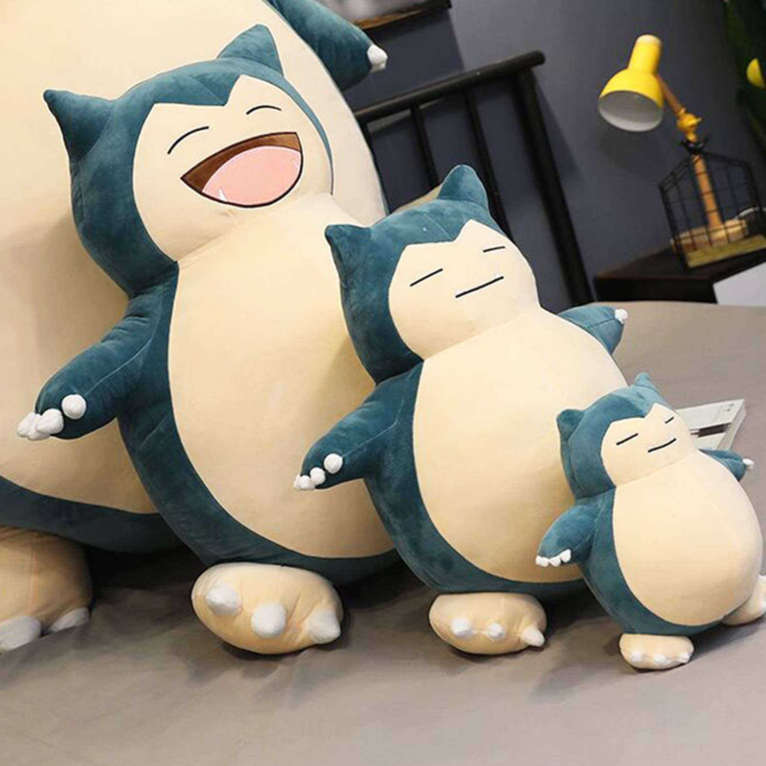 Jumbo Snorlax Plush Toy Soft Doll Animal Pillow 50cm suffered Plush Fluffy Figure Gift for Kids