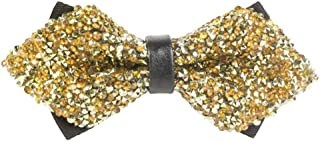 gold glitter bow tie