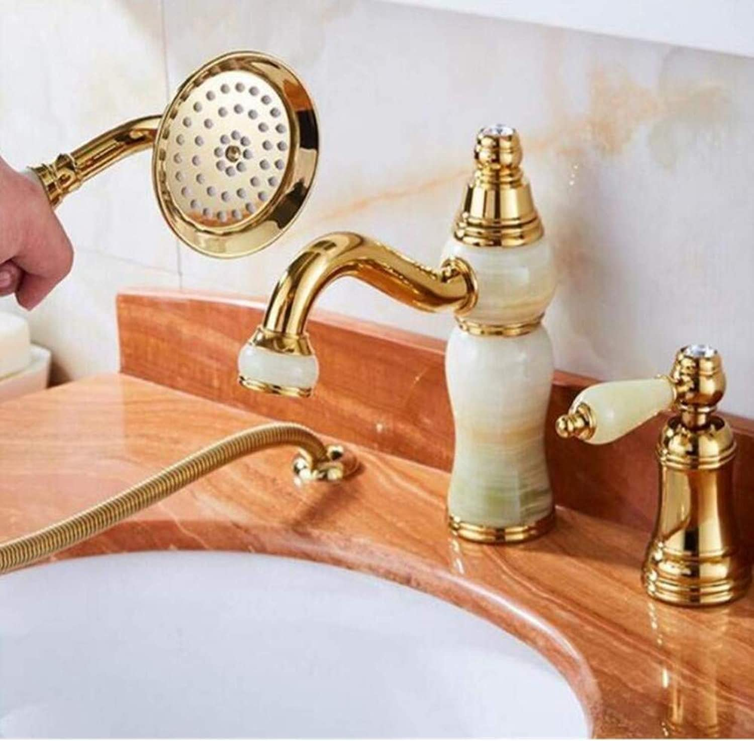 Brass Wall Faucet Chrome Brass Faucetfaucet Single Handle with Diamond Vanity Sink Mixer Water Tap