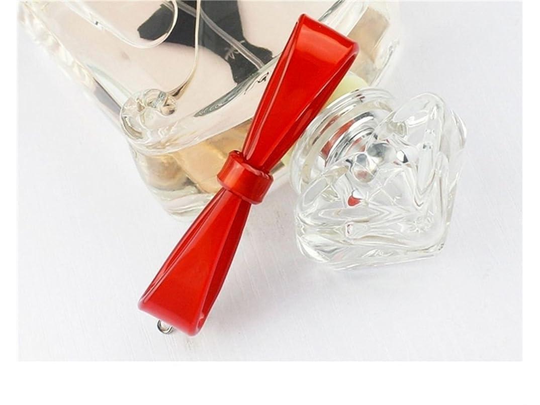 評価可能とげのある従うOsize 美しいスタイル ボウヘアクリップワンワードヘアピンヘアアクセサリー(レッド)