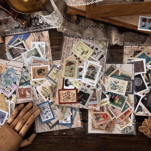 Blour Museum Philatelische serie dagboek, decoratieve stickers voor scrapbooking, stick, dagboek, schrijfwaren, retro, stempel, plant, zelfklevend