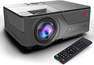 Pansonite Mini Projector 5200 Lumens Projector for Outdoor Movies Support 1080P and Max.200'' Display,Compatible with TV S...