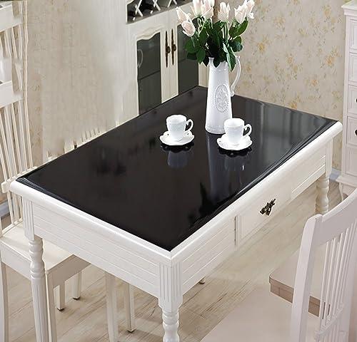 Tablecloth Farbe PVC-Tisch Wasserdicht Weißhe Kunststoff Einweg-Muster Frosted Tischdecke (Farbe   2, Größe   9090cm)