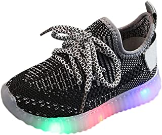 Sceoyche Kids LED Light Shoes, Children's Luminous Outdoor Running Shoes Mesh Breathable Lightweight Walking Shoes Sneaker...