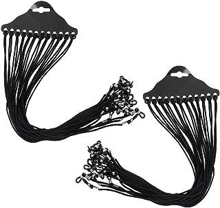 24Pcs Eyeglass Holder Strap Cord, Nylon Eyeglass String Holder Chain Necklace Lightweight Glasses Cord Chain String Eyeglass Retainer Black