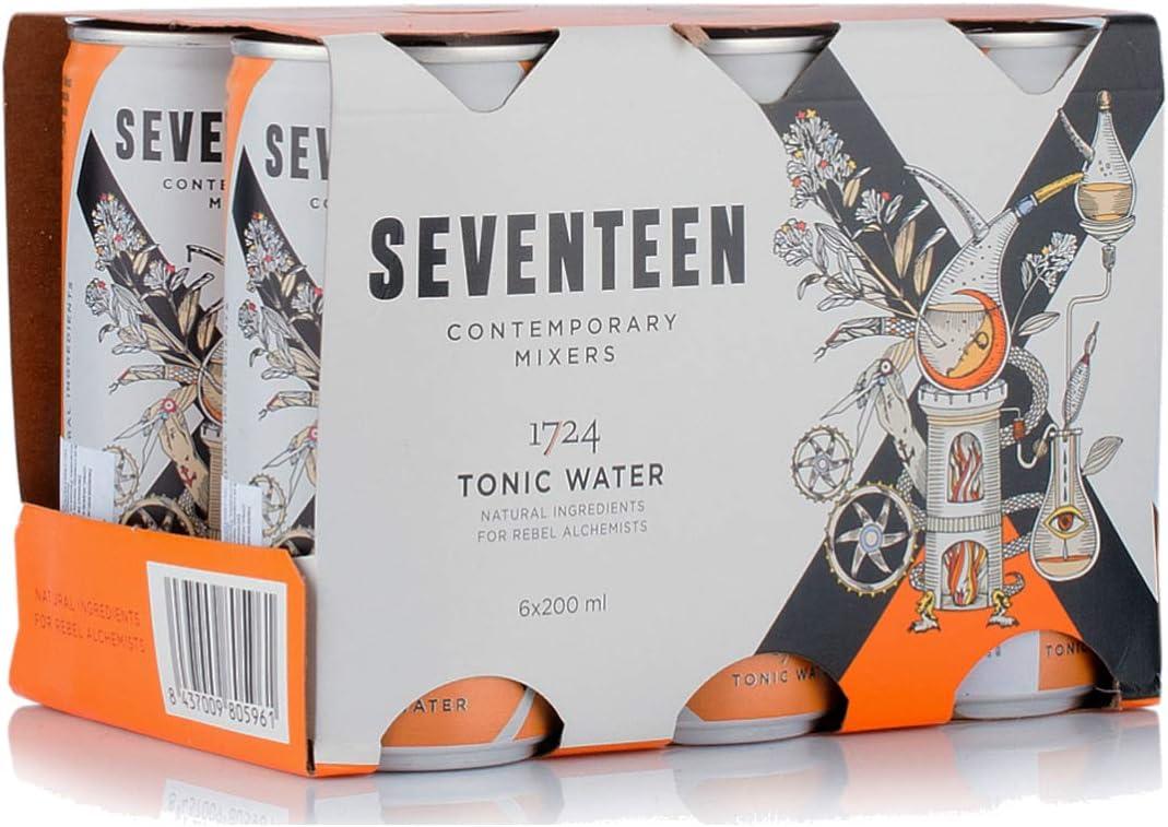 Seventeen Contemporary Mixers Seventeen - 1724 Tonic Water, 6 latas, 1,2 litros