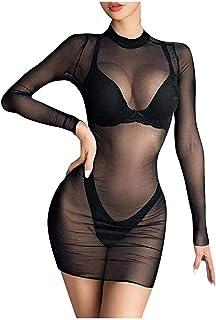 CJDM Vêtements érotiques Vêtements érotiques pour Femmes Plus la Taille de la Lingerie Sexy des Femmes Gaze Transparente T...