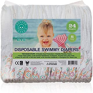Little Toes Natural Disposable Swim Diapers (Small, 24 Count)