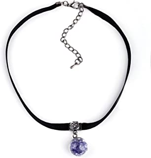 Silver Shoppee Chain for Women (Purple) (Ssnk1022B)