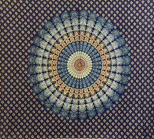 Seamar Telo Arredo Copritutto Grande Mandala Blu