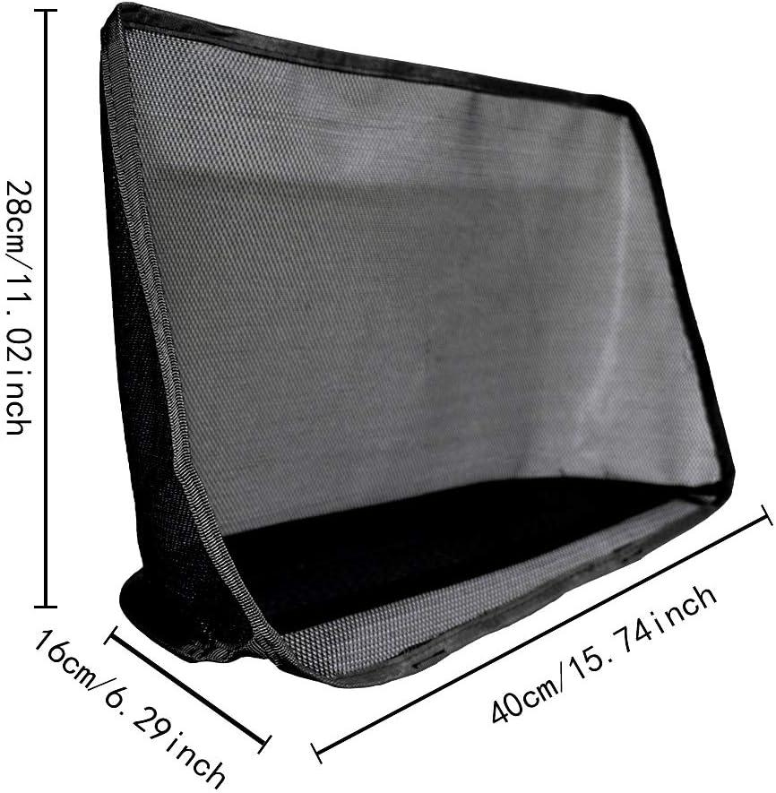 FEIJI Car Net Pocket Handbag Holder Seat Back Organizer Mesh Large Capacity Bag for Purse Storage Phone Documents Pocket,Barrier of Backseat Pet Kids Standar Black