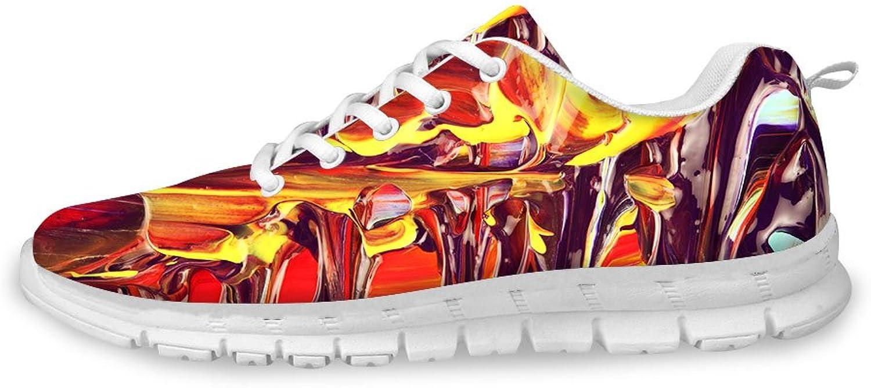 FOR U DESIGNS Fashion Flex Unisex Men Women Casual Mesh Comfort Train Running shoes
