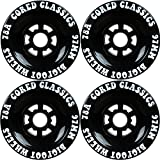 Best Wheels For Longboards - Bigfoot Cored Classics Longboard Wheels Black, 97mm Review