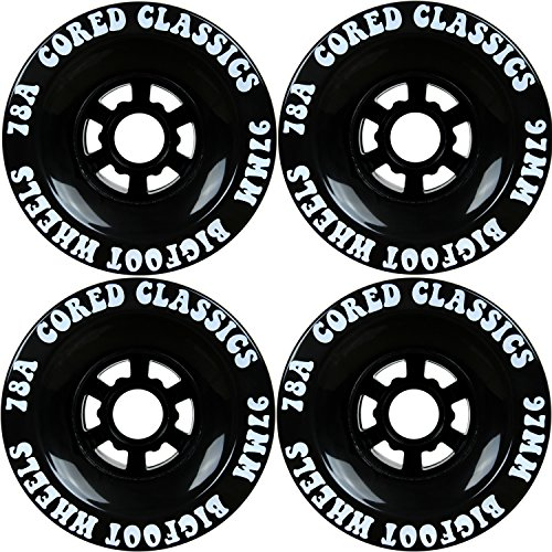 Bigfoot Cored Classics Longboard Wheels Black, 97mm