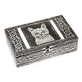 HAB & GUT -BOX014V- Boîte á Bijoux en Aluminium, Chat, 20 x 12 x 6 cm