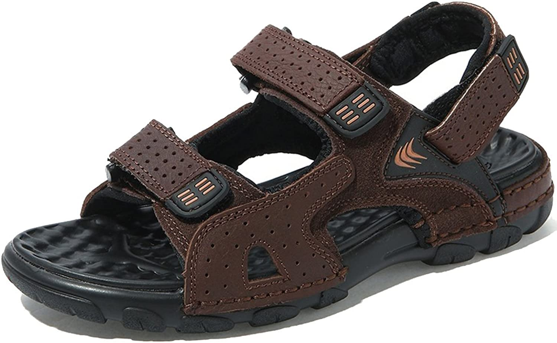 Hevego Zandalias Leather Fisherman Beach Hiking Sandals for Women