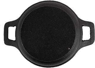 Mini sartén de hierro, material de hierro de calidad Sartén de dos asas, utensilios de cocina de hierro fundido para cocinar