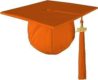Class Act Graduation Standard Unisex Adult Matte Graduation Cap and Tassel with 2020 Gold Charm, Orange