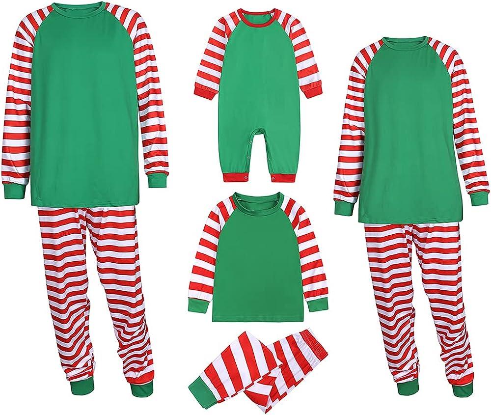 MYGBCPJS Matching Xmas Family Pajamas PJS Women Men Christmas Pullover Sleepwear 2PCS Jammies Loungewear Set