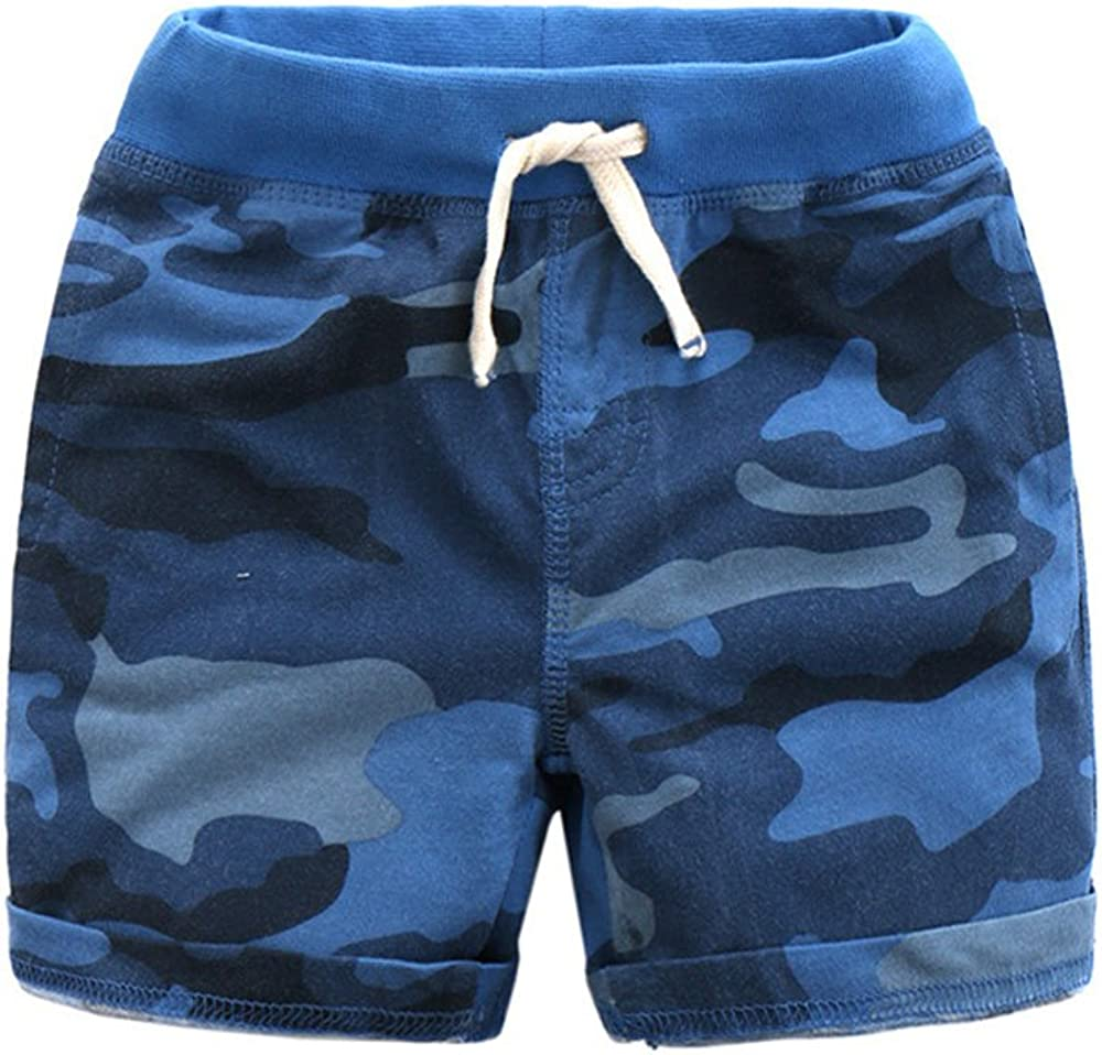 Ding Dong Kid Boy Summer Camouflage Cotton Shorts