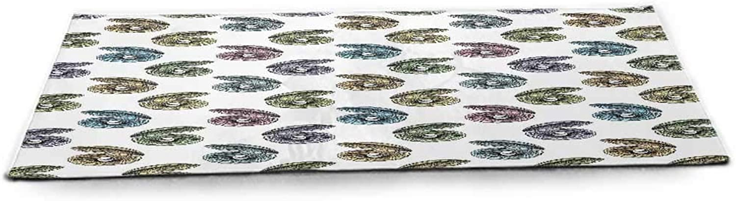 Pearls Decoration Fitness Yoga Mat Pattern with Pearls Seashells an Oysters Natural Marine Life Style Decor Beach Theme at Home or Outdoors Anywhere Tan Peach