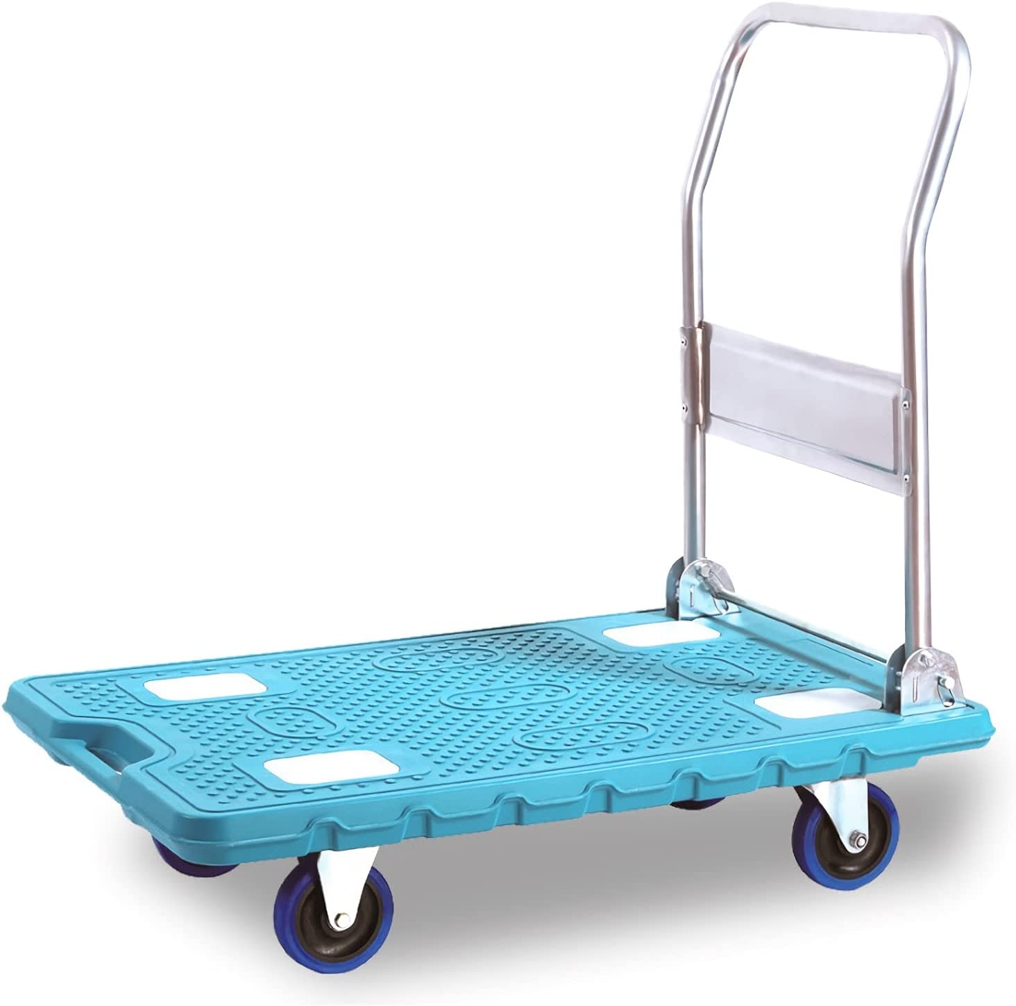 DALIZHAI777 Platform Cart Plastic Trolley Flatbed Ranking TOP1 Metal All stores are sold Foldable