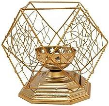 WLJBD Castiçais de vela, suporte de vela para mesa nórdico, moldura geométrica, suporte de vela de ferro, decoração de mes...