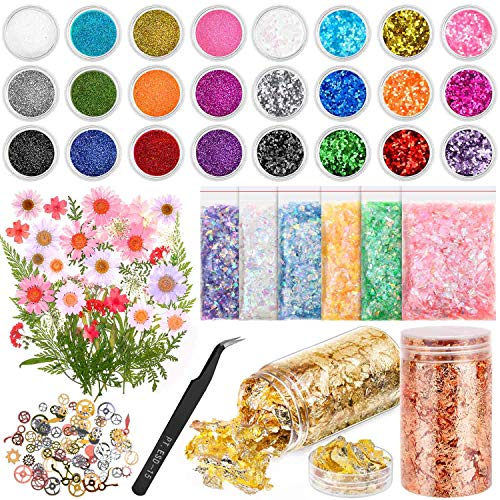 Resin Jewelry Making Supplies Kit, Thrilez Resin Decoration Kit with Resin...