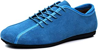 Xiang Ye Men Driving Loafers Casual Classic Fashion Belt Spring And Autumn Fleece Lined Boat Moccasins(Conventional Optional) (Color : Light blue, Size : 41 EU)