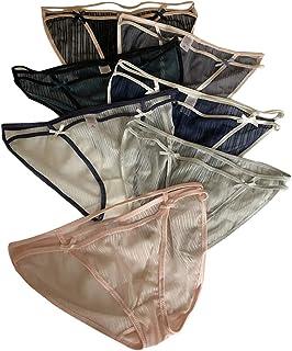 catch-L Culotte Sexy en Maille sans Couture Temptation Briefs Taille Basse Femme Bikini Bow(Color:7 Pack,Size:Taille Unique)