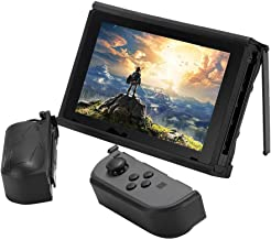 AIXMEET Case for Nintendo Switch with Detachable Joy-Con Protection and Solid Upright Kickstands (Black)