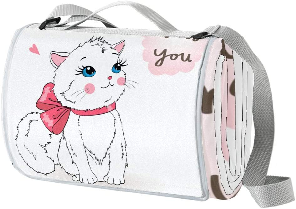 Indimization Picnic Weekly update Blanket Miss White Mat Extra Max 76% OFF Waterproof Cat