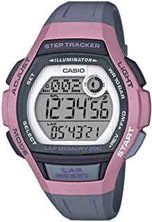 Casio Womens Quartz Watch, Digital Display and Resin Strap LWS-2000H-4AVDF
