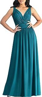 Womens Long Sleeveless Flowy Bridesmaid Cocktail Evening Gown Maxi Dress