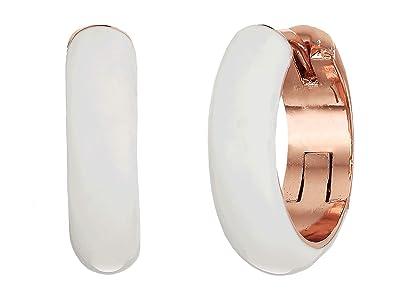 Kate Spade New York Candy Drops Enamel Huggies Earrings (White) Earring