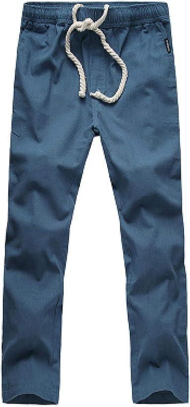 Pantalones Chinos para Hombre, algodón, Lino, Transpirable ...
