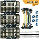 エレクトロクッキー Arduino プロトタイプ シールドボードキット スタッカブル DIY 拡張 プロト プリント基板 PCB Arduino Uno R3用 (3枚セット)