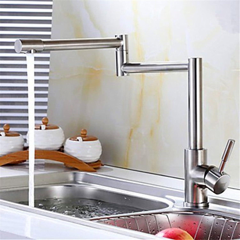 Küche mit herausziehbarer Dual-Spülbrause,Kaltes Heies Wassert Robinet en acier inoxydable eau chaude et froide évier de cuisine robinet robinet pliant robinet bassin double poignée 304