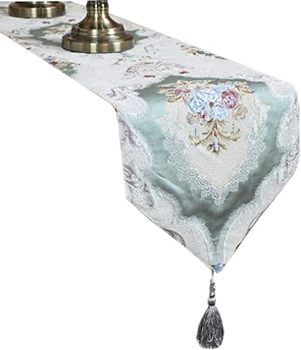 Unbekannt Blumenkarte Tabelle Flag Fashion Einfache Nordic Kaffee Bett Hochzeit Hotel Bankett 2 Farbe 30 cm  160 cm MUMUJIN (Farbe   Grün, Größe   240cm)