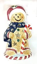 Laurie Korsgaden Watercolors Gingerbread Votive Holder 6.5 inches