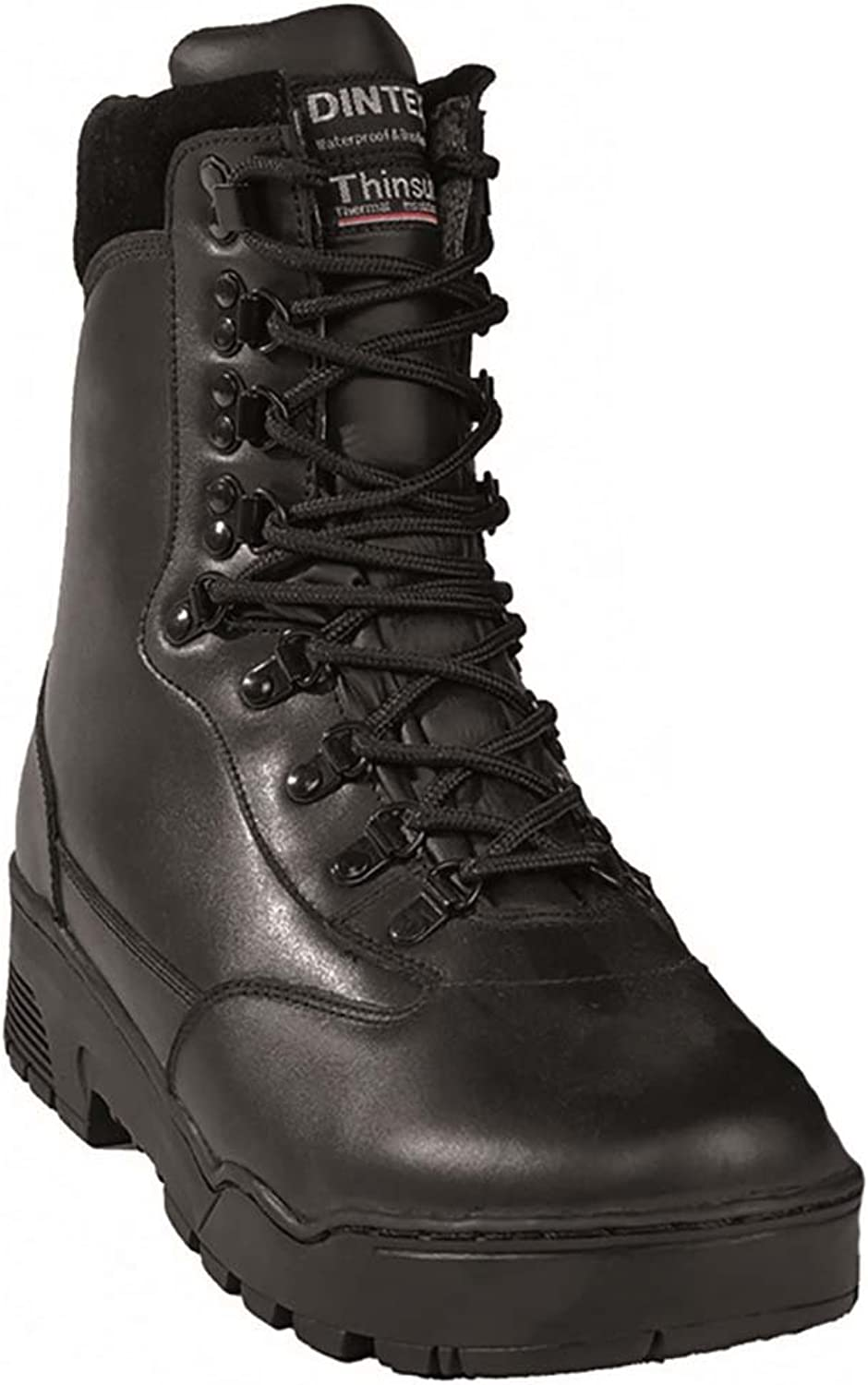 Mil-Tec &apos Tactical Boots Leather Black