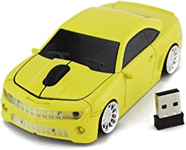 FASBEL for CL Racing Sports Car Mouse Wireless Mice Computer Laptop PC Optical Mouse (Yellow)