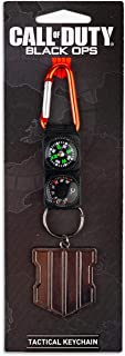 Exquisite Gaming Call of Duty: Black Ops 4 Logo & Keychain Compass Navigation Set   Includes Thermometer, Compass, & Black...