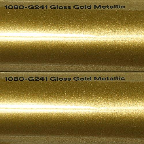 3M 20,72€/m² Autofolie Scotchprint Wrap Film 1080 Gloss G241 Gold metallic gegossene Glanz Profi Folie 152cm breit BLASENFREI mit Luftkanäle