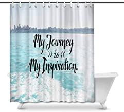 Motivational Quotes with Seascape My Journey is My Inspiration Home Decor Waterproof Polyester Fabric Shower Curtain Bathr...